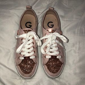 Pink sparkly guess sneakers